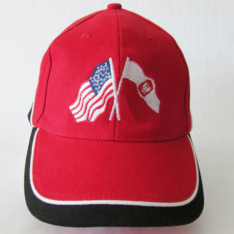 Polish American Flags Cap_Red
