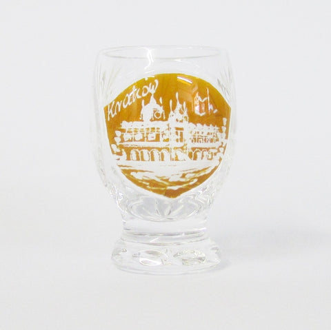 Polish Crystal Etched Krakow Shot Glass Set