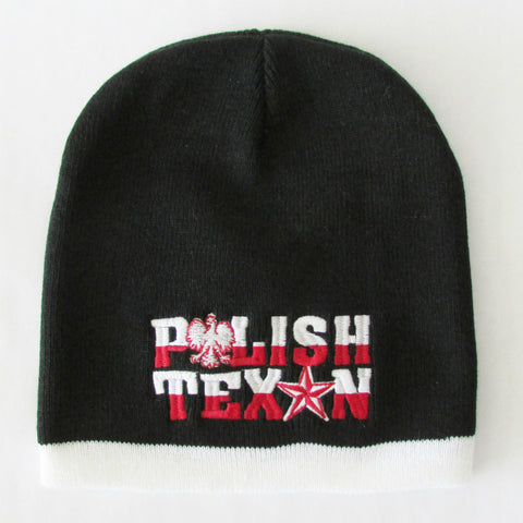 Polish Texan Black Winter Hat Beanie