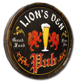 Personalized English Beer Pub Sign Oak Barrel Sign_profile