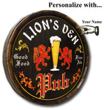Personalized English Beer Pub Sign Oak Barrel Sign_person