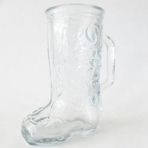 12.5 oz Cowboy Boot Glass Mug - A Classic Tavern Favorite