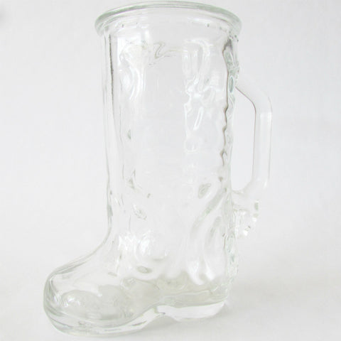 17 oz Cowboy Boot Glass Mug - Home Bar Favorite
