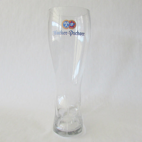 2L German Glass Beer Boot - Hacker Pschorr Beer