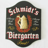 German Biergarten Personalized Home Bar Sign