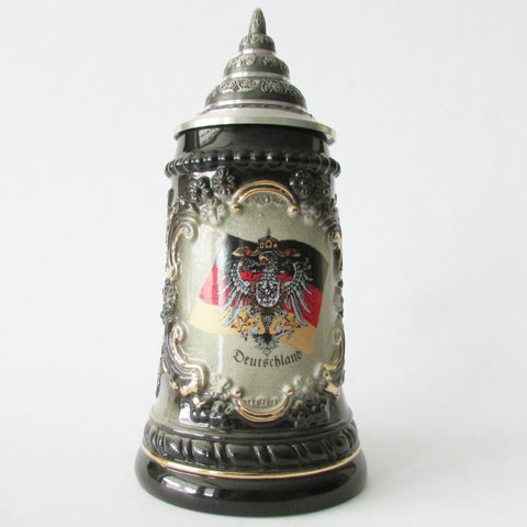Black & Gold Coat of Arms .25L Beer Stein