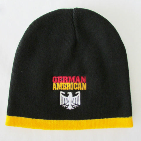 German American Eagle Winter Hat Beanie