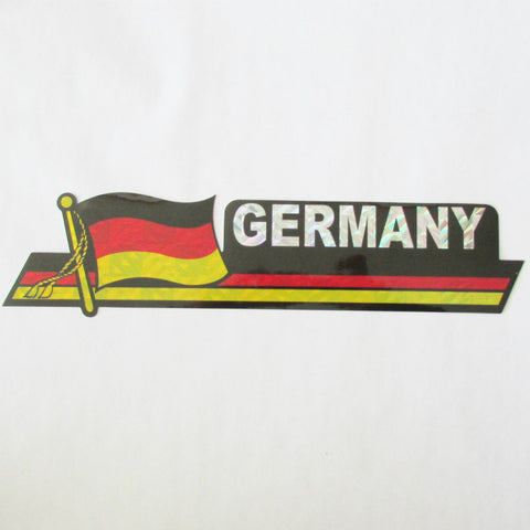 Germany German Flag Bumper Sticker - 12in