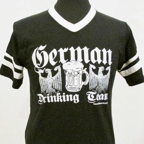 German Drinking Team Jersey  V-Neck Black