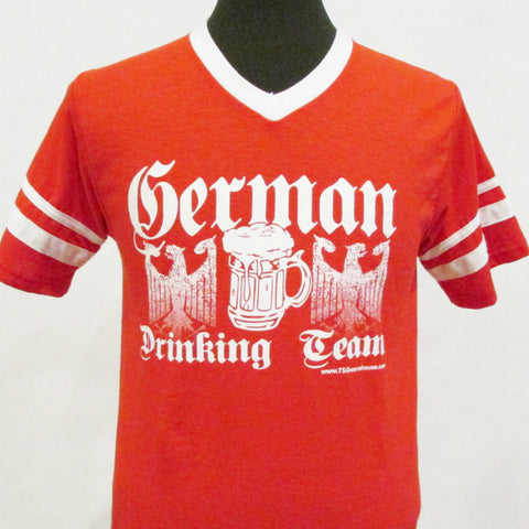 German Drinking Team Jersey V-Neck - Red