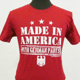 Made in America with German Parts Shirt - Red