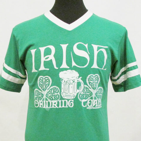 Irish Drinking Team Jersey V-Neck - Kelly Green