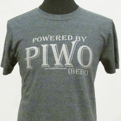 Polish Powered by Piwo_Beer T-Shirt_Grey