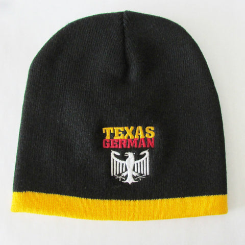 Texas German Gold Trim Winter Hat