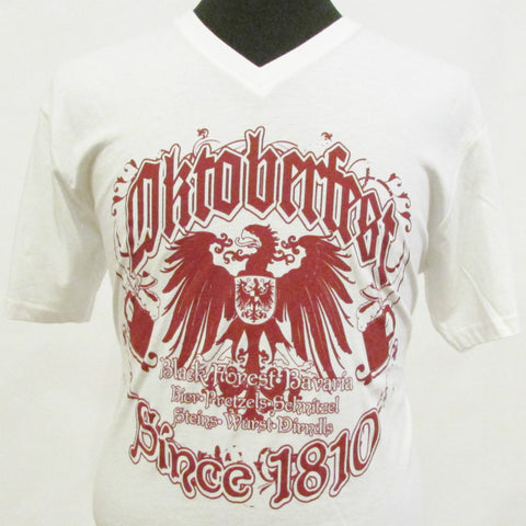 Oktoberfest Since 1810 V-neck Shirt White
