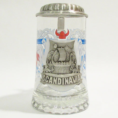 Scandinavia .5L Glass Beer Stein