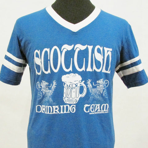 Scottish Drinking Team Jersey V-Neck - Royal Blue
