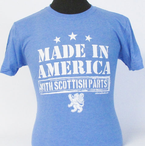 Made in America with Scottish Parts Heather Royal T-Shirt
