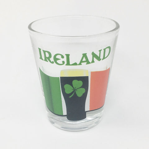 Ireland Flag & Pint Shot Glass_Clear