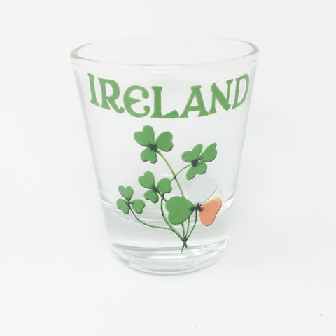 Ireland Shamrocks Shot Glass_Clear
