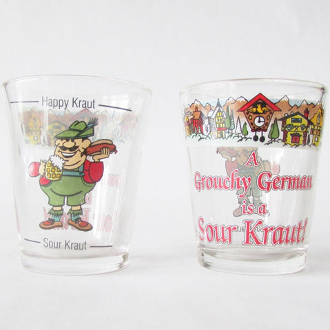 Grouchy German Sour Kraut Clear Shot Glass