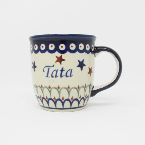 Tata_Dad Coffee Cup Mug_Polish Pottery