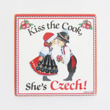 Kiss the Czech Cook Tile Magnet