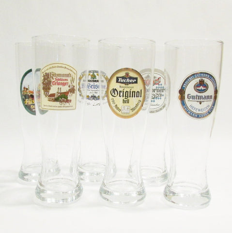 German Brewery Weizenbier Glasses - Set of 6