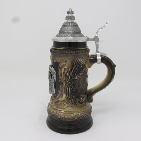 Rothenburg Pewter Crest .25L German Beer Stein