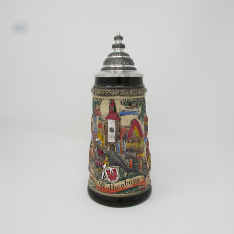 Rothenburg Village .5L German Beer Stein