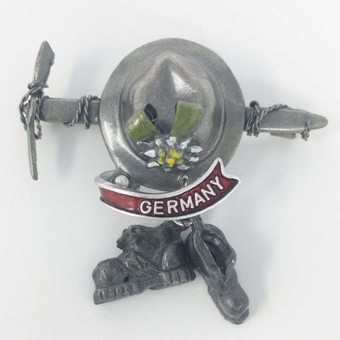 Germany Axe & Hat with Hiking Boots Hat Pin