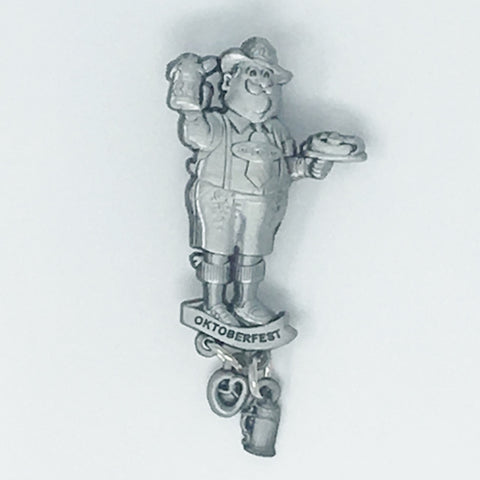 German Man Dangle Silver Hat Pin