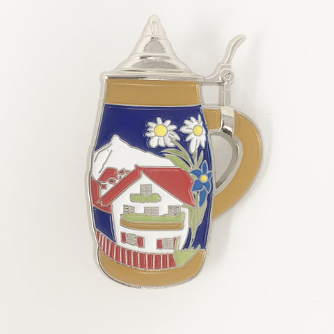 Stein- Flat W/ Village - Color- hat pin