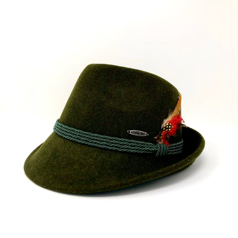 Green Fedora- Bavarian Wool Hat