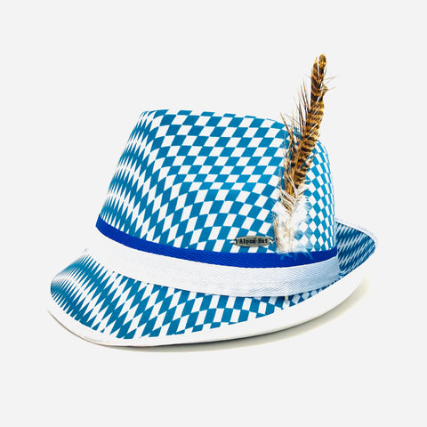 Bavarian Checkered Fedora Souvenir Hat