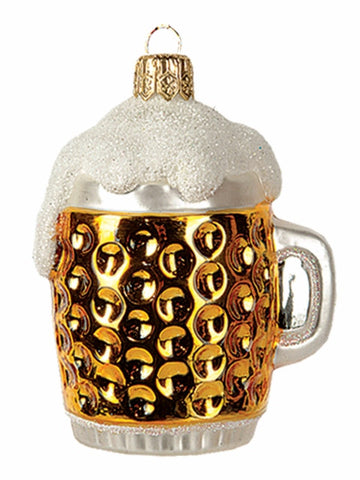 Mini Beer Mug - Blown Glass Ornament