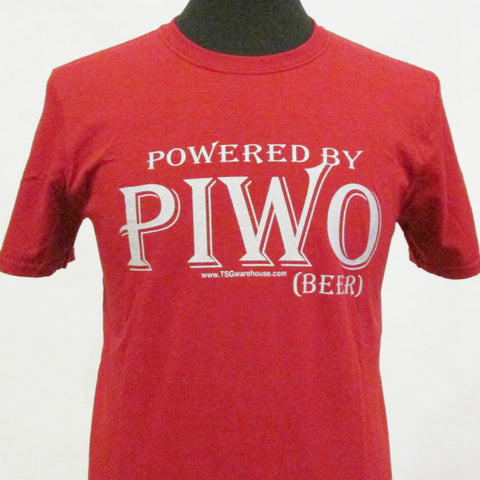 Polish Powered by Piwo_Beer T-Shirt_Red