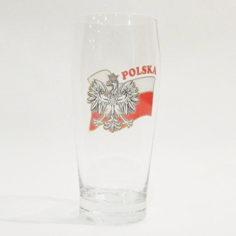 Polska Eagle Flag .5L Pint Glass