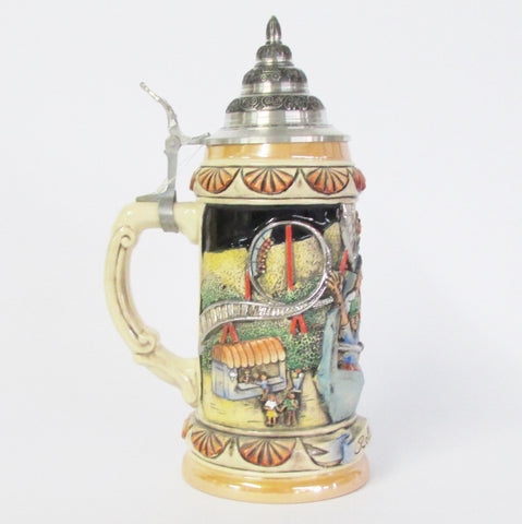 Roller Coaster Thrill Ride .75L Beer Stein