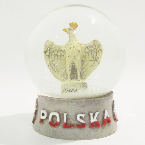 Poland Polska Eagle Large Snow Globe