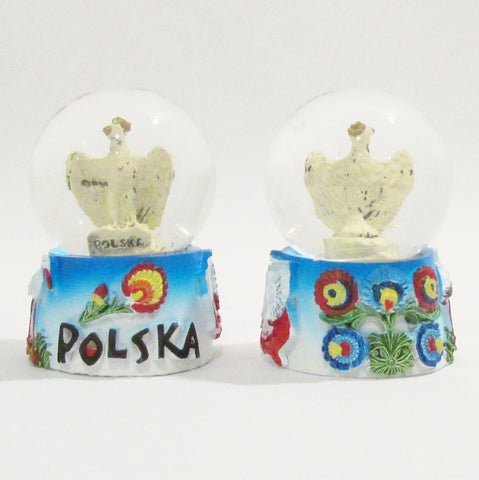 Poland Polska Eagle Small Snow Globe