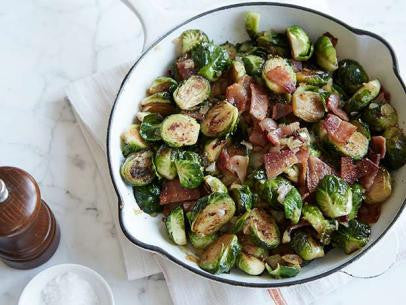 PAN-FRIED BRUSSEL SPROUTS WITH BACON