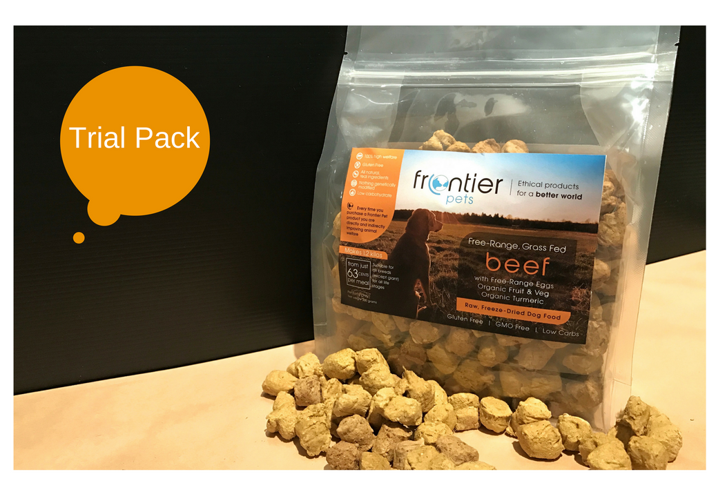 Free-Range, Grass Fed Beef Dog Food - makes 1.2 kilos - TRIAL PACK