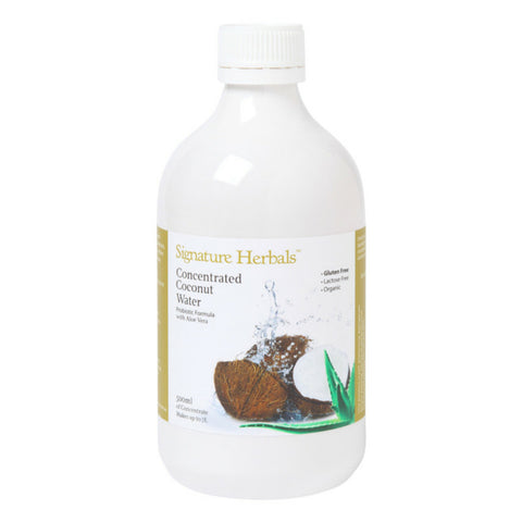 Signature Herbals - concentrated coconut water with probiotic & aloe vera