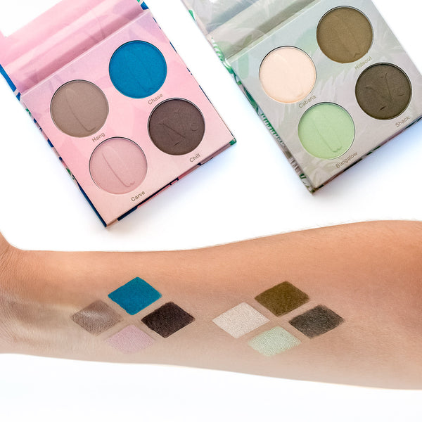 NOMAD x California Encinitas & Malibu Surf Shack Eyeshadow Palettes - Swatches