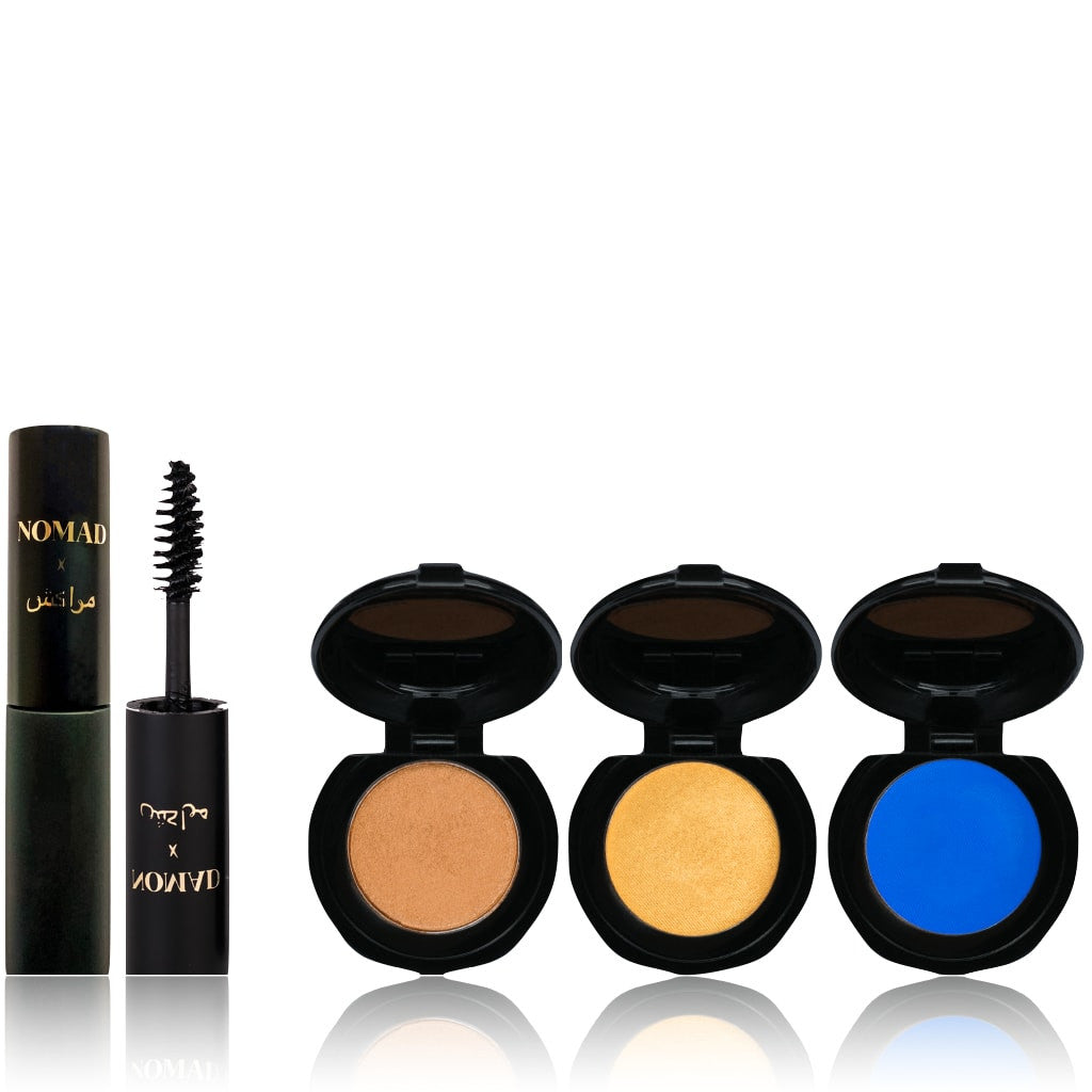 NOMAD x Marrakesh Soiree Set - 4-Piece Travel Makeup Set with Mascara and 3 Intense Eyeshadows