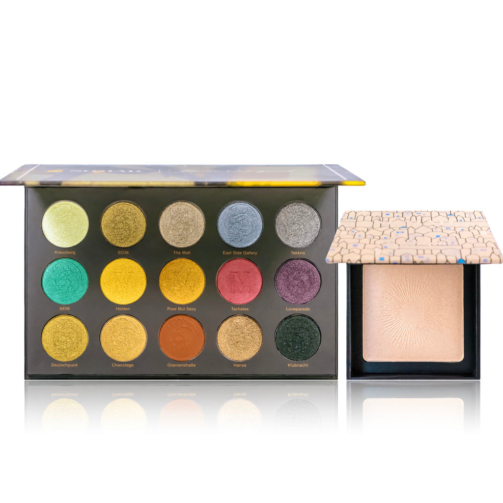 Berlin Underground Intense Eyeshadow Palette & Stockholm Illuminated Highlighting Powder Duo Pack