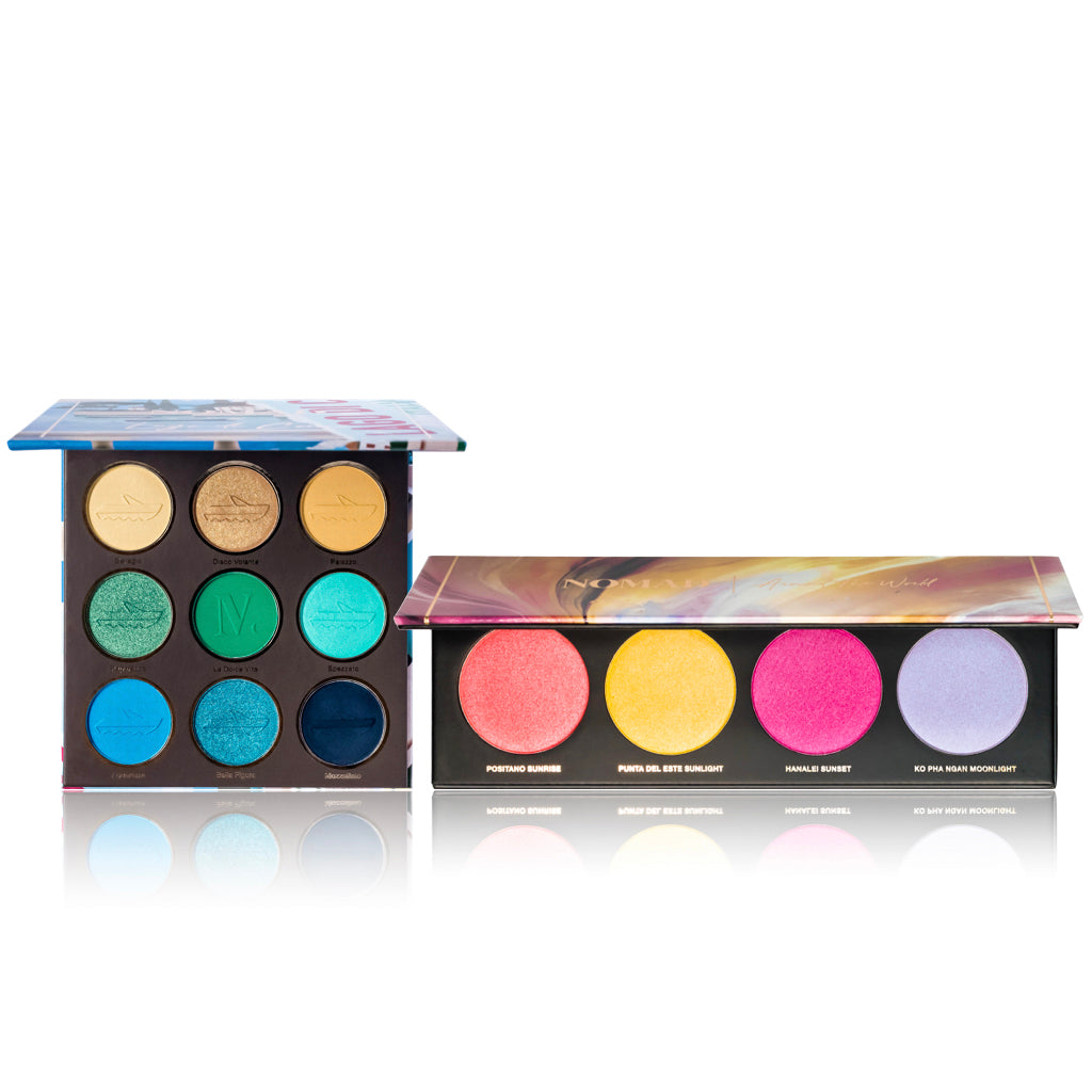 NOMAD x Lake Como Eyeshadow Palette & Around-The-World Light Infusion Palette Duo Pack