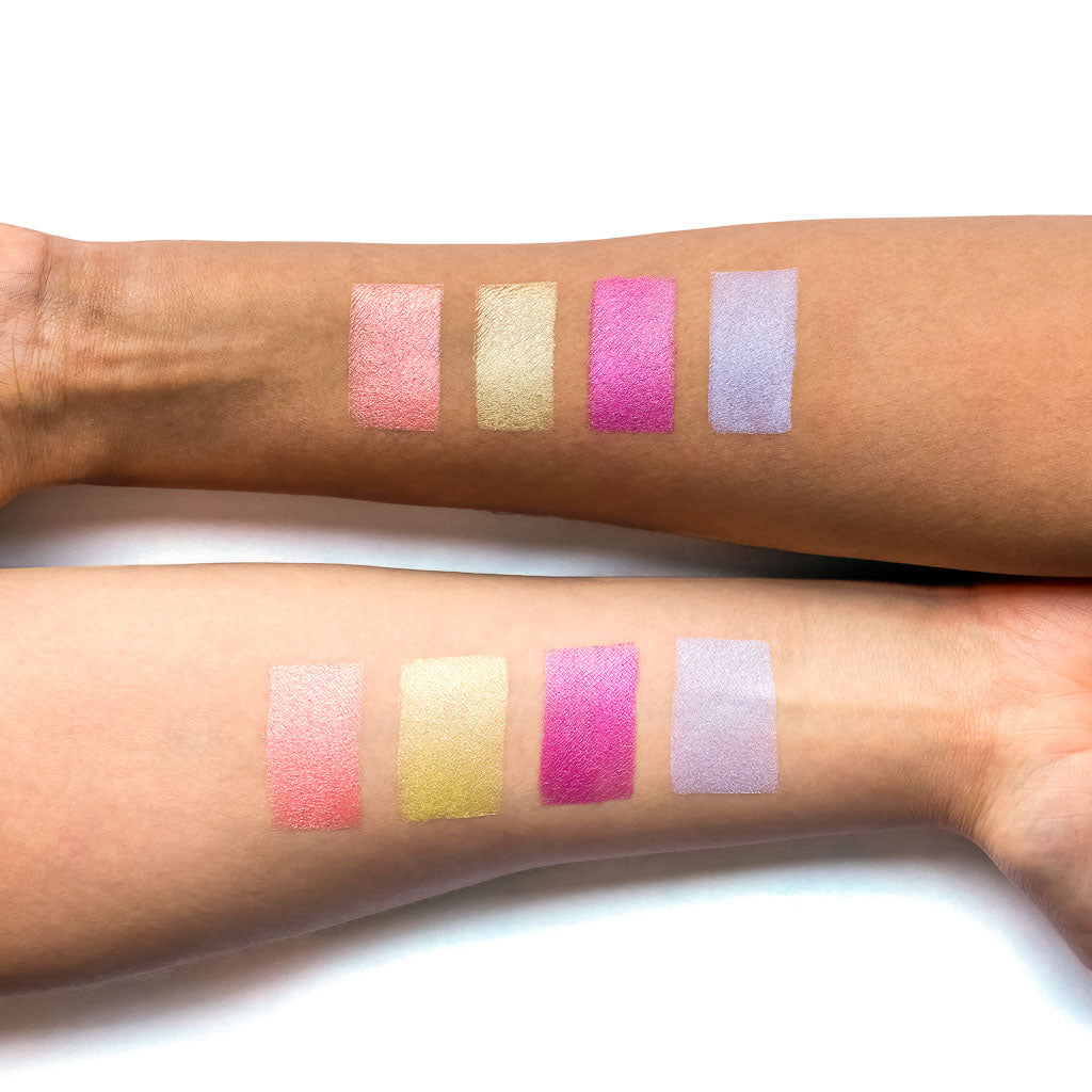 NOMAD x Around-The-World Light Infusion Palette Swatches