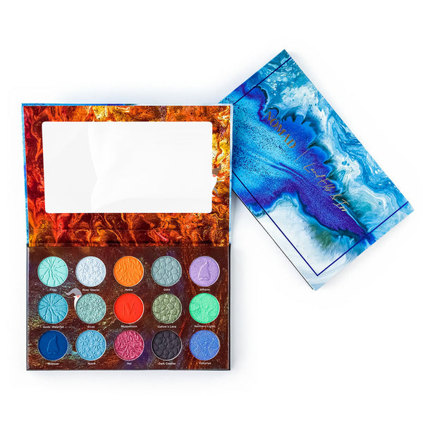 NOMAD x Iceland Fire & Ice Intense Eyeshadow Palette - Inside & Outside